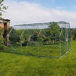 Fonctionne dans le chenil pendant les exercices en plein air. Cage mesurant dans une grande taille de 4m x 3m x 2m, un généreuse 18m2 offrant un très raisonnable espace pour que votre chien étire ses pattes, tube en acier galvanisé de 25mm–0.8mm d