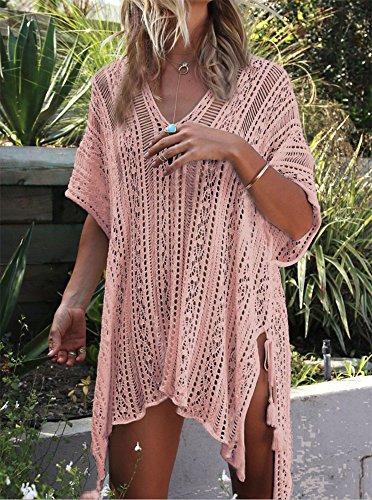 Camicetta da bagno in maglia da spiaggia, da vacanza Pelle rosa