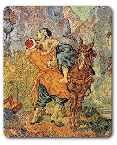 vincent-van-gogh-tapis-de-souris-le-bon-samaritain-daprs-delacroix-dtail-1890-23-x-19-cm