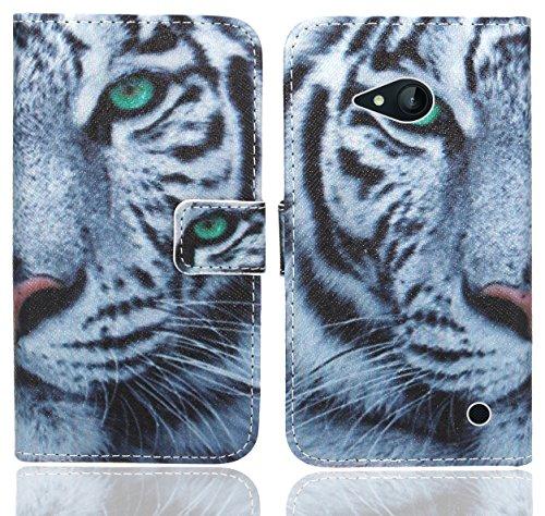 Nokia Lumia 735 730 Handy Tasche, FoneExpert Wallet Case Flip Cover Hüllen Etui Ledertasche Lederhülle Premium Schutzhülle für Nokia Lumia 735 730 (Pattern 6)