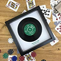 Personalised Vinyl 7 Inch Single - Ideal Gift For Him - Fully Framed with Personal Record Label and Optional Message - Real Vinyl Record