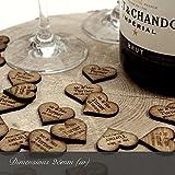 Herz-Dekorationen aus Holz, personalisierbar, rustikal, Vintage, für Hochzeiten, holz, natur, 100