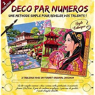 Deco von Numero Malen nach Zahlen 24x 24cm Farblich Sortiert Merveilles d'Asie (dt.: Wunder Asiens) 24 x 24 cm farblich sortiert