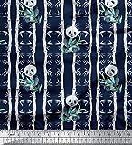 Soimoi Blau Samt Stoff Bambus Panda Dschungel Stoff Drucke