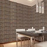 Kamaca PVC-Material Southeast Asiatischen Stil 3D Chinesischer Stil Weiden Muster Nachahmung Rattan Tapete Restaurant Wohnzimmer Tapete 53* 1000cm B