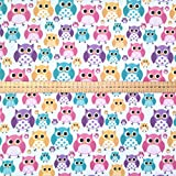 Prestige mehrfarbig Eulen Design Poly Baumwolle Wimpelkette
