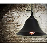 FWEF Idee di battuto ferro pendente/ombra Bar retrò Café Bar illuminazione lampadari di corno