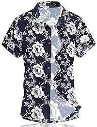 Para hombre Hawaiian Floral Manga Corta Camisas – Vacaciones de natación tops con forro de malla