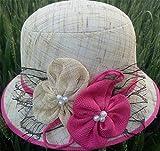 Leisial Estate Cappello Da Sole Signore Donna Adulti Tesa Larga Traspirante Lino Secchio Bush Cappello Paglia Per Esterno Spiaggia Pesca(Beige)