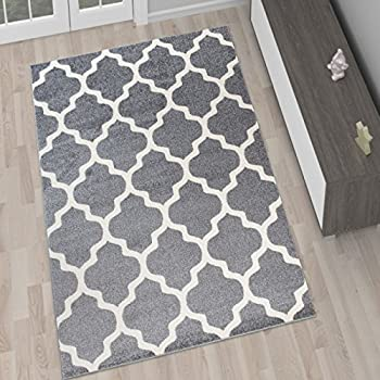 Amazon.de: Moderne Wohnzimmer Teppiche - TEPPICH in Braun mit KARO ...
