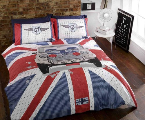 GT mini Union Jack British Car Race doppio set di biancheria da ...