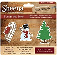 Sheena Douglass Spottdrossel Hill Metall Sterben – Fun in The Snow, Silber