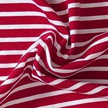 409c44f2 Das Blaue Tuch, Bio- Stoff, Streifen-Jersey, rot/ weiß gestreift
