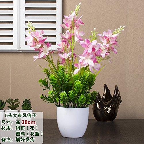 Xin Pang Simulation künstliche Blume Set Silk Blume Kunststoff Blume Ornament Blume Anordnung Wohnzimmer Esstisch Blume Interieur Anzeige Blumenarrangements, Pink-5 Kopf Hyazinthe