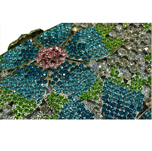 Borsa Da Sera Con Pochette Donna Borsa Con Diamanti Blu