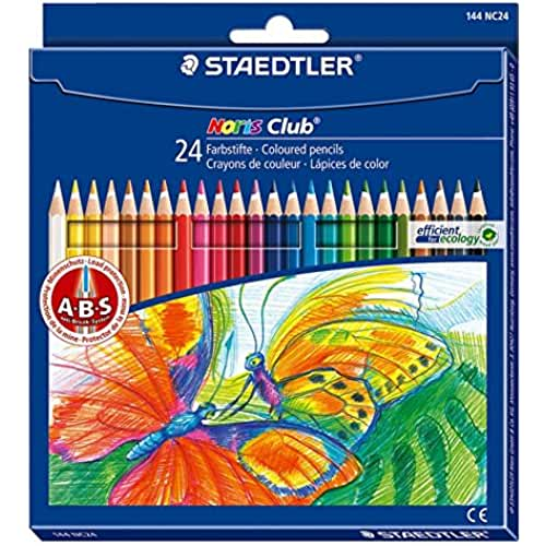 mas dibujos kawaii Staedtler Noris Club - Pack de 24 lápices de colores