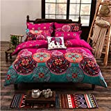 Boho Betten Set, Stillshine modernes elegantes 4 Stück Bohemian Exotic Style Lightweight Microfiber Bettwäsche-Set Bettwäsche Set, King Size, 220x240CM, Style #9