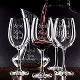 Set decantador y copas personalizados para parejas - regalo de boda, aniversario o bodas de oro