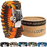 PARALOOP - Das ORIGINAL Paracord Survival Armband mit Stil - inkl. hochwertiger Geschenk- und Aufbewahrungsbox - in Handarbeit hergestellt - mit verstellbarem Edelstahlverschluss - aus Paracord 550 Typ III - für dein nächstes Outdoor Abenteuer