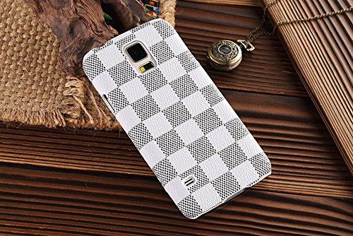 HEIL S5* Schnell Garantie Erfüllt von Amazon * Neue Eleganten Luxus Hohen Qualität PU Leder Checker Pattern Wallet Style Flip Cover Schutzhülle für Samsung Galaxy S5S 5Nur - Sprint Samsung S5