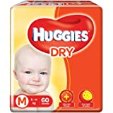 Huggies new Dry, Taped Diapers, Medium Size, 60 Counts