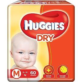Huggies New Dry Medium Size Diapers  60 Counts