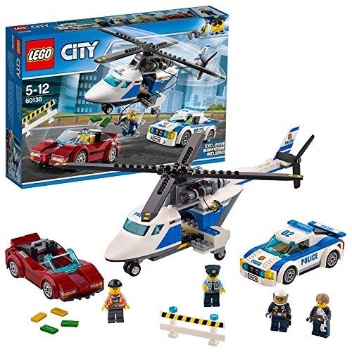 Lego-bau-zubehör (LEGO City 60138 - Rasante Verfolgungsjagd, Bausteinspielzeug)