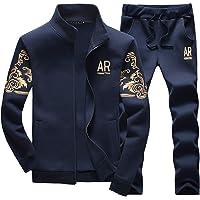 MANLUODANNI Men's Tracksuit Sets Bottoms Full Zip Jogging Gym Suit Jacket with Pockets