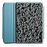 Apple iPad Mini 4 Smart Case hellblau Hülle Tasche mit Ständer Smart Cover Lavastein Struktur Stein Muster