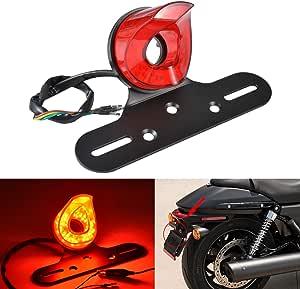 supporto universale per la maggior parte delle motociclette lince rossa TUINCYN Fanale posteriore per moto 12 V rosso per Harleys Chopper