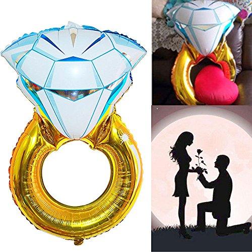 Palloncino pallone gonfiabile anello diamante proposta matrimonio festa amore