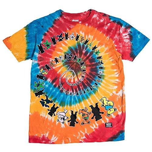Pre-short Sleeve Graphic T-shirt (Grizzly Griptape Men's Have A Nice Trip SS T Shirt Tie-Dye Multi-Color 2XL)