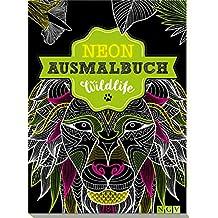 Wildlife Neon-Ausmalbuch