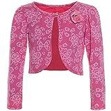 BEZLIT Bolero Strick Kinder Mädchen Lange Ärmel Schulterjacke Bauchfreie Jacke 21205 Pink Größe 92