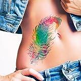 Feder aquarell - Temporäres Tattoo