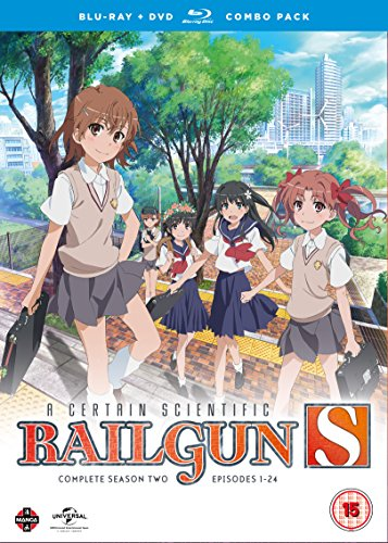 A Certain Scientific Railgun Complete Season 2 Collection (Episodes 1-24) Blu-ray/DVD Combo [UK Import]