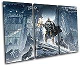 Bold Bloc Design - Destiny Rise of Iron XBOX ONE PS4 Gaming 90x60cm TREBLE Leinwand Kunstdruck Box gerahmte Bild Wand hangen - handgefertigt In Grossbritannien - gerahmt und bereit zum Aufhangen - Canvas Art Print