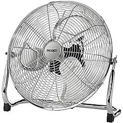 newpo Ventilateur de Sol au Look Industriel | pour l'intérieur et l'extérieur | Diamètre 50 cm | Ventilateur sur Pied orientable Angle d'inclinaison réglable