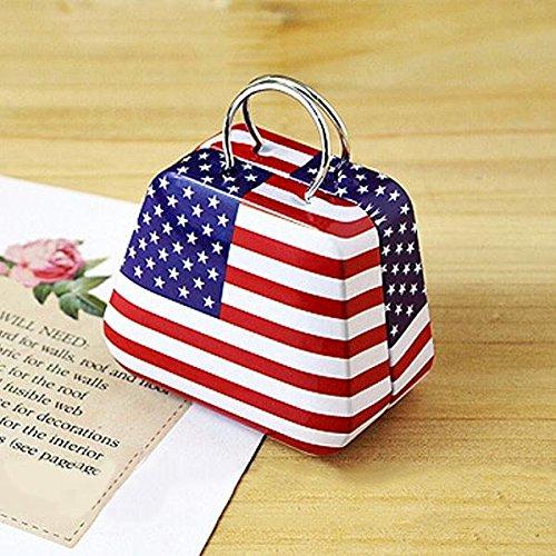 Bluelover Mini Kleine Zinn-Münzkassette-Geldbeutel-Kasten-Schmucksache-Tee-Storage Box amerikanische Flagge