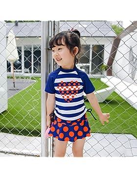 HAIYOUVK Parent-Child Models Beach Pants Split Skirt-Style Thin-Strapped Swimsuit Swim Spa A Family Of Four Swimwear...