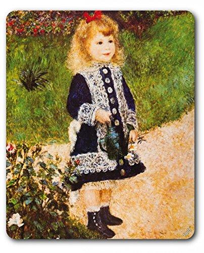 Preisvergleich Produktbild 1art1 89358 Pierre Auguste Renoir - Mädchen Mit Gießkanne, 1876 Mauspad 23 x 19 cm