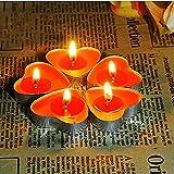 Ailiebhaus 50 Teelicht Set romantische Liebe Herz Form Pudding Rauchfreie Duft Kerzen Schwimmkerzen Rot - 9