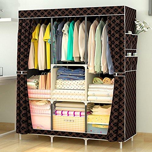 HYLR Einfache Montage Kleiderschrank Tuch Stahlrohr Kleiderschrank modern einfach staubdicht Lagerschrank