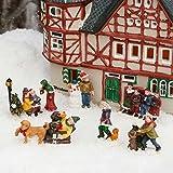 Gärtner Pötschke Miniatur-Weihnachtsdorf-Winterfiguren Buntes Treiben, 6er-Set