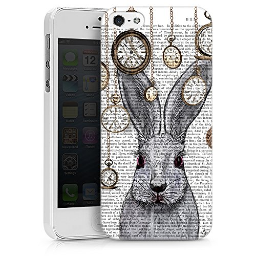 """artboxONE Handyhülle Apple iPhone 6, weiß Hard-Case Handyhülle """"FOLGE DEM KANINCHEN Case"""" - Film Tiere - Smartphone Case mit Kunstdruck hochwertiges Handycover von FabFunky Hard Case weiß"""
