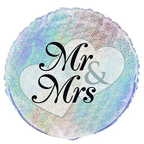 boda de globo de helio Füllung con el registro Sr Sra & amp; , Modelos/colores Surtidos, 1 Unidad