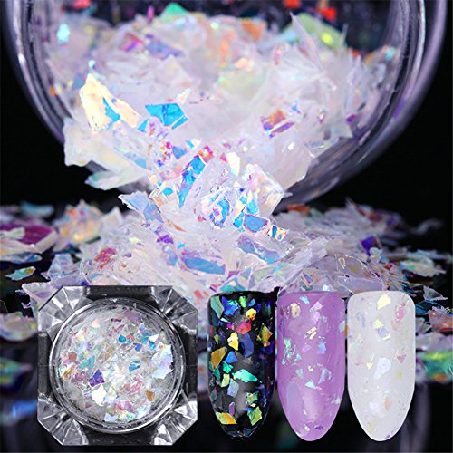 Born Pretty Irregular Nail Flakies Candy Glass Paper Colorful Nail Art Sequins Paillette 1g