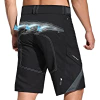 Mens Mountain Bike Shorts Breathable Lightweight Quick Dry Baggy MTB Shorts Hiking Cycling Shorts Loose Fit for Outdoor…