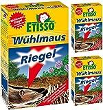 3 x 18 (54 Stk) ETISSO Wühlmaus-Riegel + Zeckenzange mit Lupe
