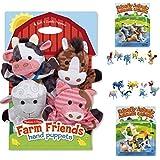 Melissa & Doug Farm Friends Hand Puppets (Set Of 4) - Cow